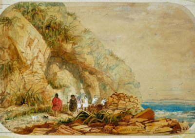 Paripari archway between Pukerua and Paekakariki. Also the site of a Ngati Toa and Te Ati Awa settlement 1844 -  Alexander Turnbull Library