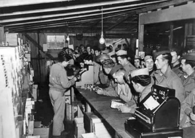 The well-stocked PX store at Camp McKay - US National archives