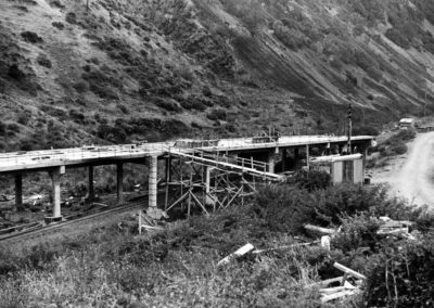 Construction of road bridge for Centennial Highway 1939 - Alexander Turnbull Library