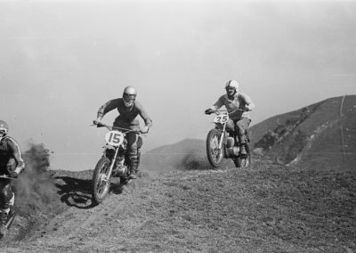 Motorcross riders Queen Elizabeth Park Paekakariki 1971 - Alexander Turnbull Library