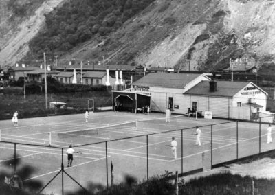 Tennis courts, Paekakariki Tennis Club 1935 - Kapiti Coast District Library