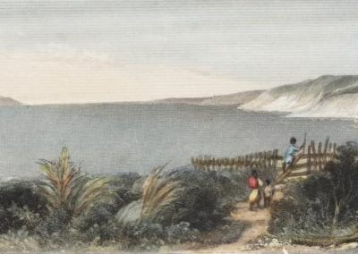 Pokaroa  the island of Kapiti Between 1842 and 1845  Drawn by S C Brees - Alexander Turnbull Library