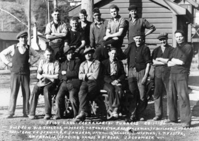 Relay gang Paekakariki Railway 1936 - Kapiti Coast District Library