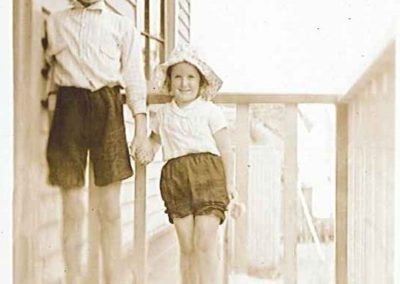 Gaynor Green and her brother Eric Green - Carson Collection
