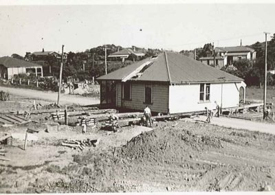 Moving Houses for Centennial Highway Construction - Carson Collection